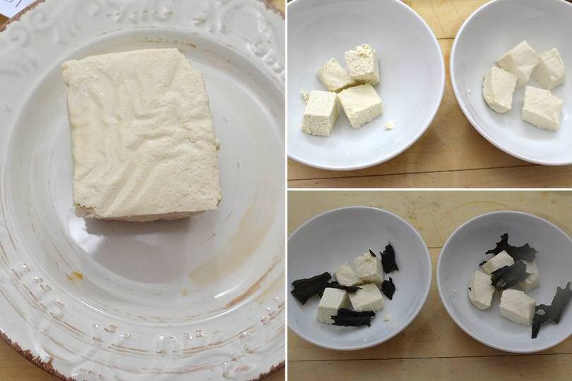 2 tagliare il tofu
