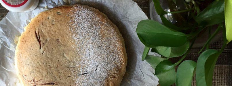 Torta di ricotta variegata con crema pan di stelle