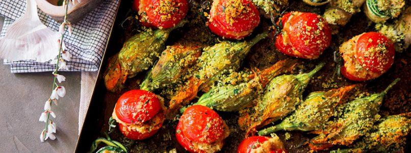 Ricetta Teglia di verdure ripiene gratinate