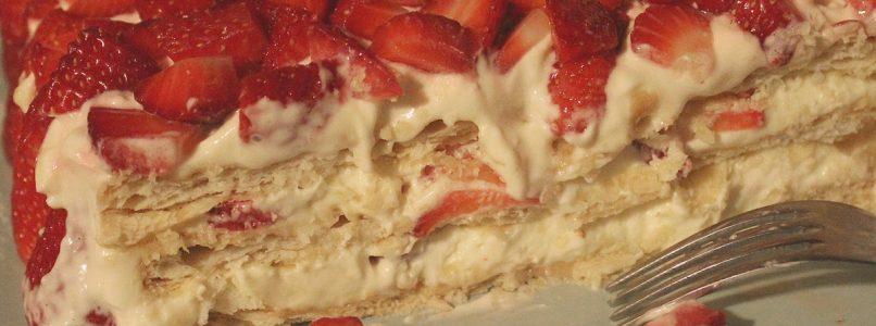 Anna in Casa: ricette e non solo: Millefoglie con crema mascarpone e fragole