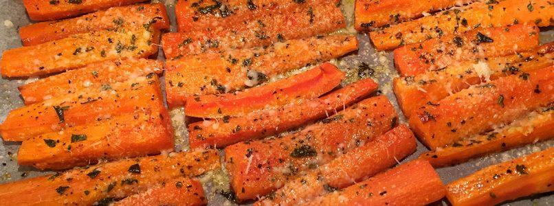 Bastoncini saporiti di carote al forno