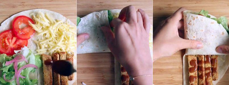 Tortilla wrap hack: il taglio che spopola su Tik Tok
