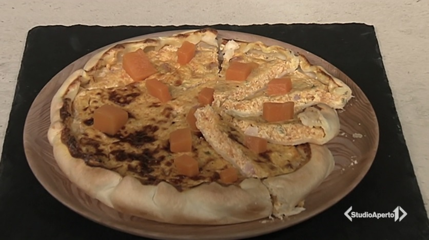 torta salata zucca e pancetta