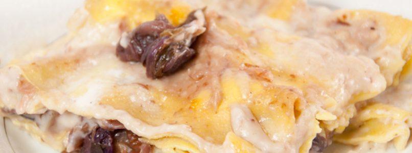 Le lasagne al radicchio e gorgonzola, per un gusto invernale