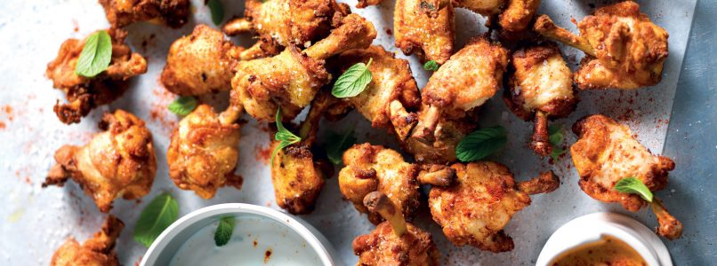 Ricetta Alette speziate marinate e fritte