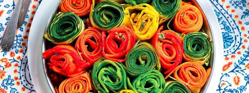 Ricetta Boccioli multicolore in teglia