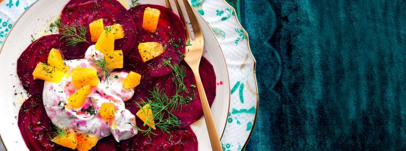 Ricetta Carpaccio di barbabietola, arance e caprino