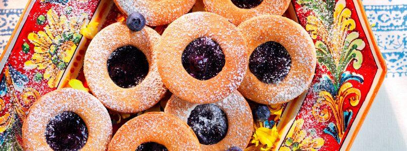 Ricetta Doppi biscotti alla confettura di mirtilli