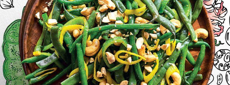 Ricetta Fagiolini e anacardi speziati