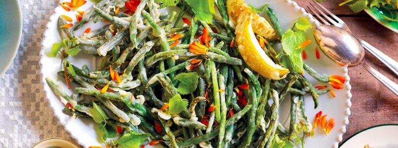 Ricetta Fagiolini in tempura con maionese al cedro