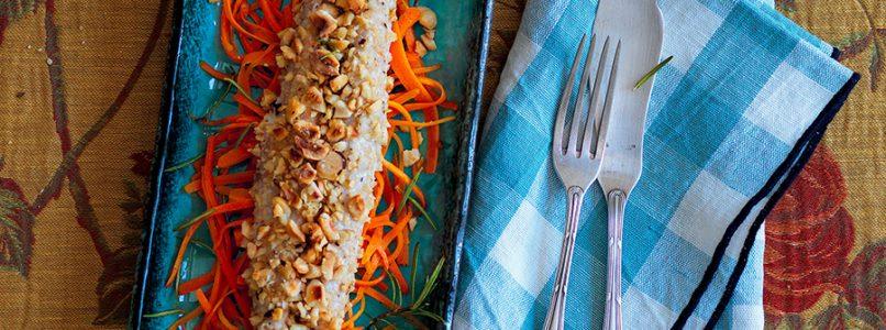 Ricetta Filetto di sgombro, nocciole e carote