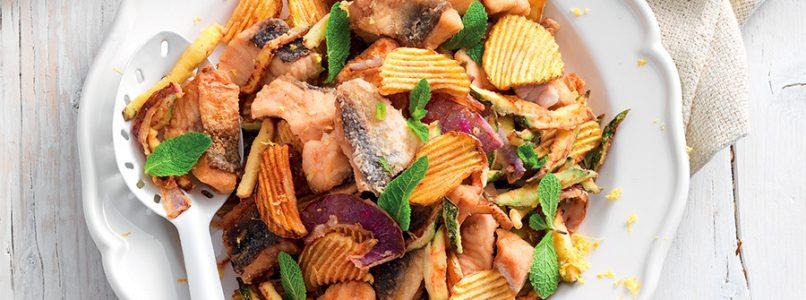 Ricetta Fritto di gallinella con verdure