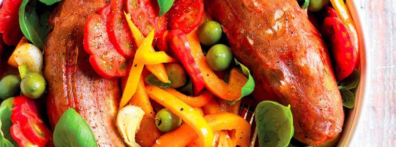 Ricetta Gallinelle e peperoni al forno