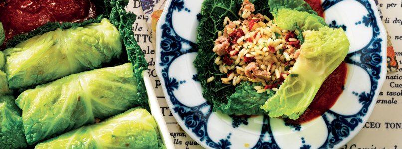 Ricetta Involtini di verza con salsiccia