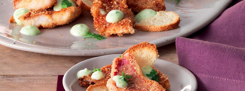 Ricetta Triglie in crosta di nocciola con maionese al wasabi