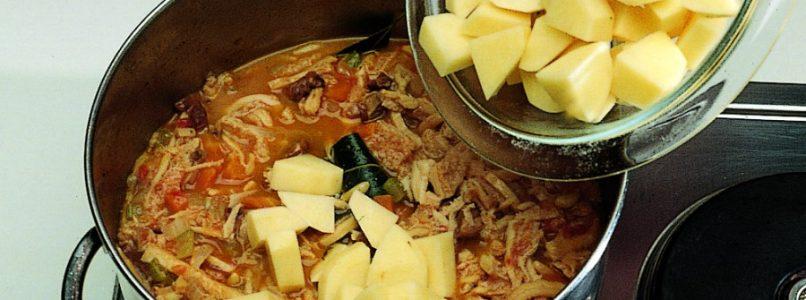 Ricetta Trippa con patate e funghi