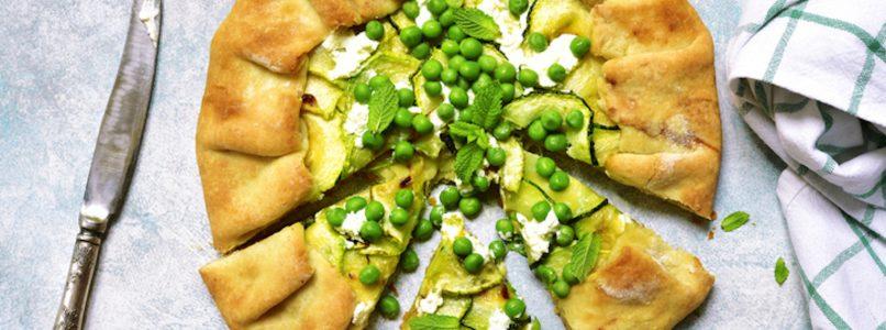 Torta salata con piselli e menta: un'idea per la primavera